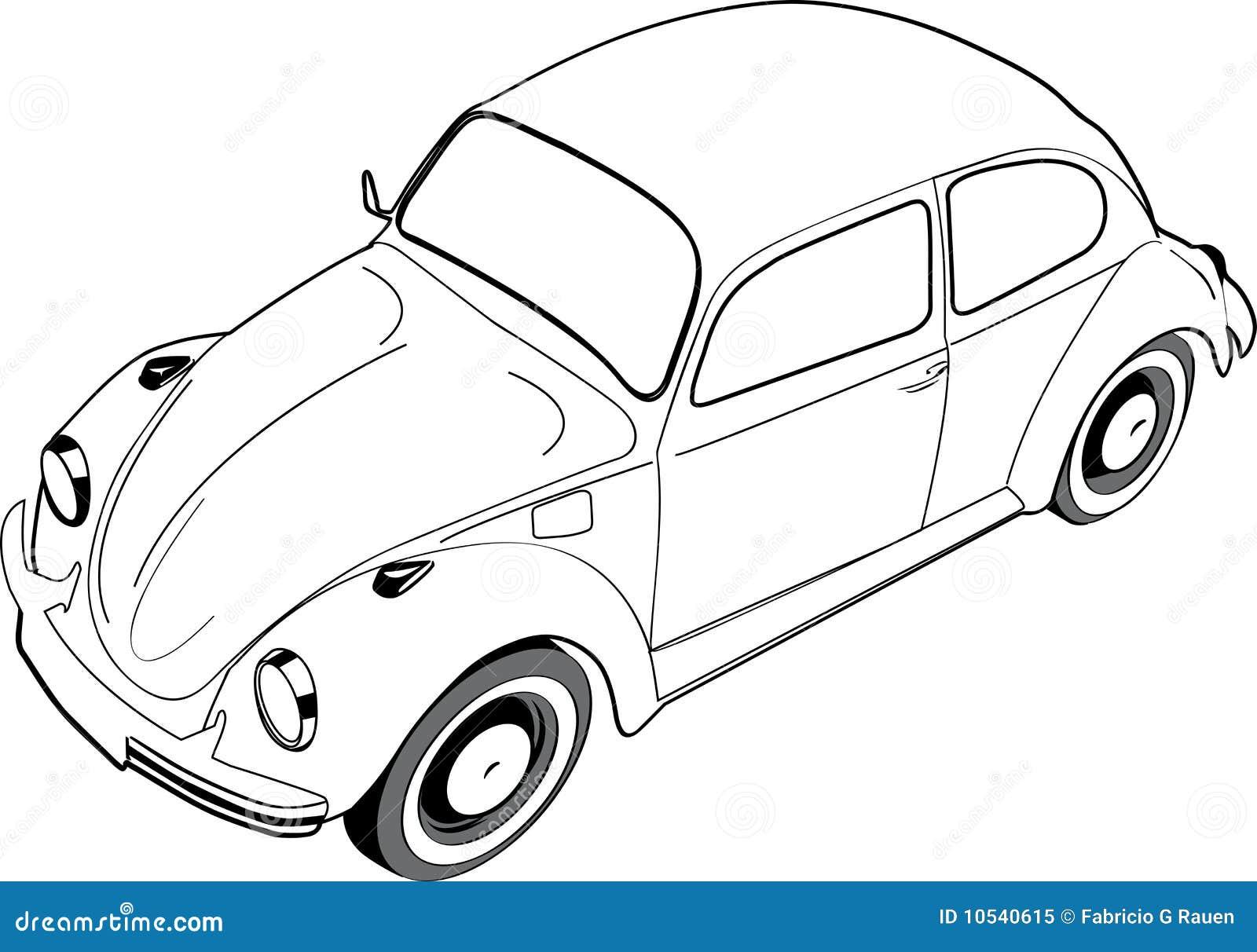volkswagen kever auto electrical wiring diagram Diagram for 1971 VW Super Beetle Engine de kever of het insect van volkswagon royalty