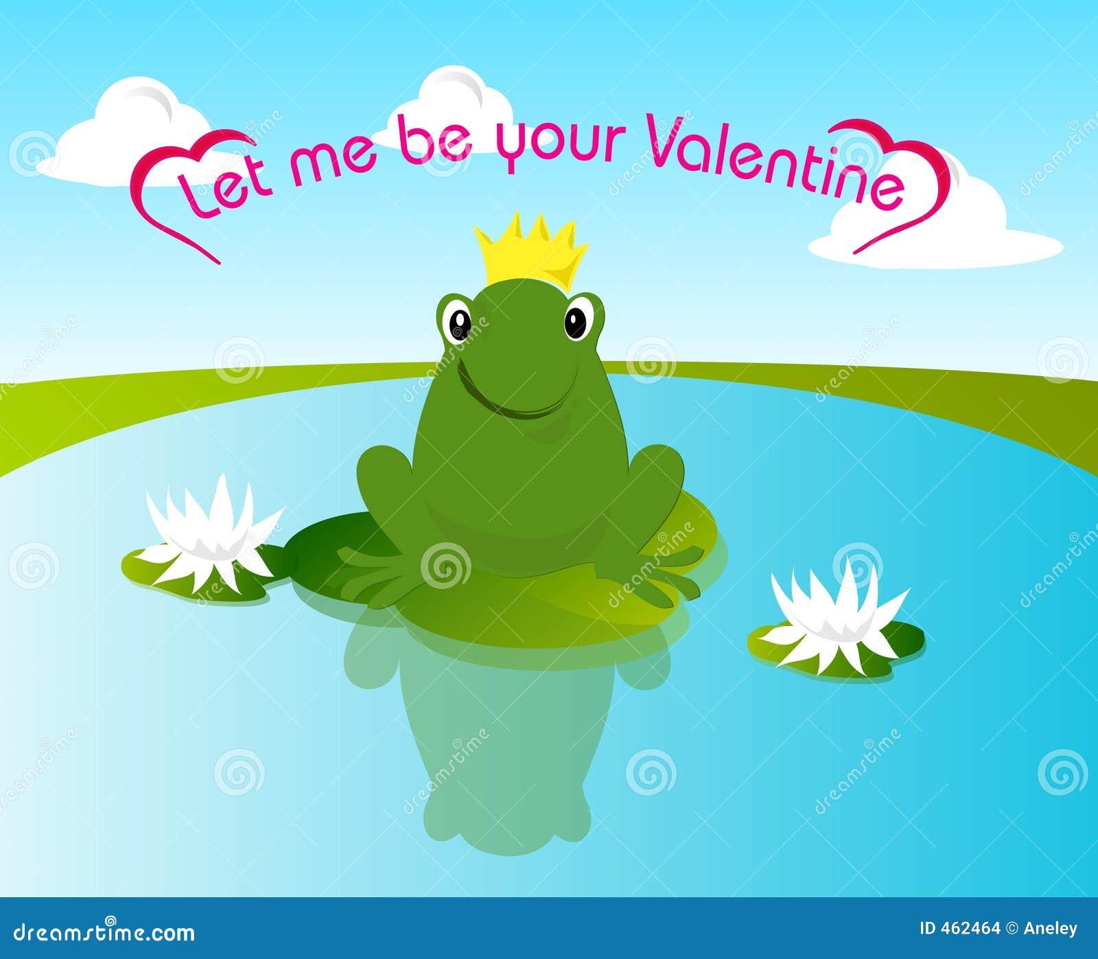 De kikker van de valentijnskaart