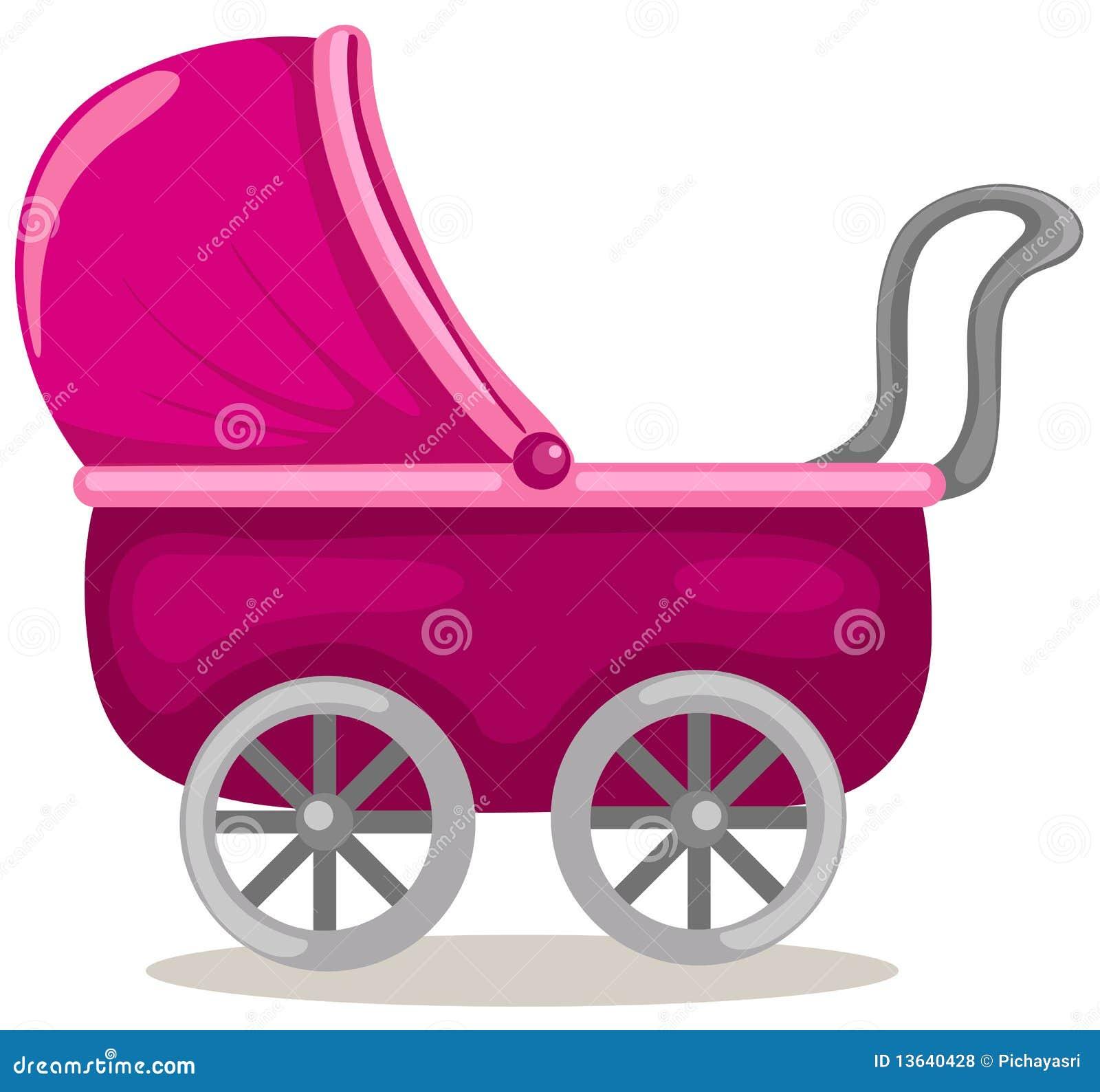 De kinderwagen van de baby