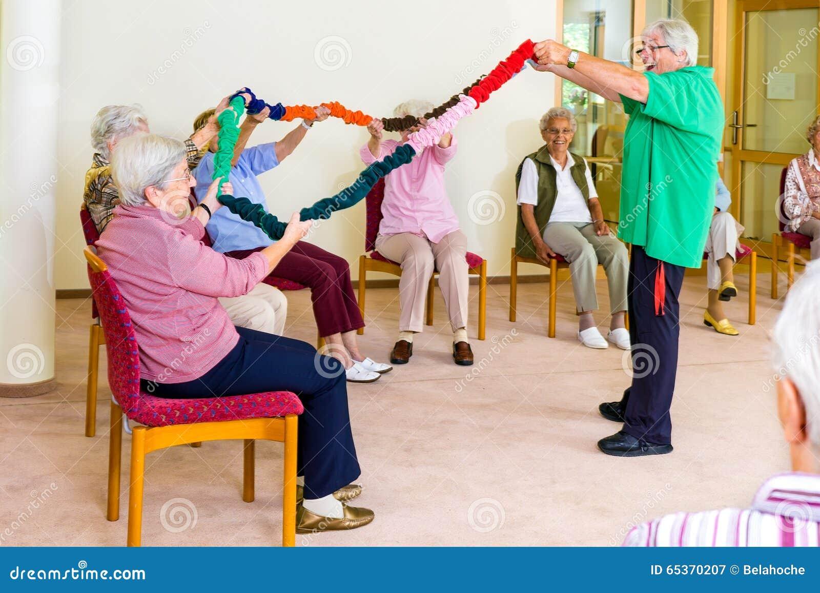 De klasse van de wapenmobiliteit met oudsten