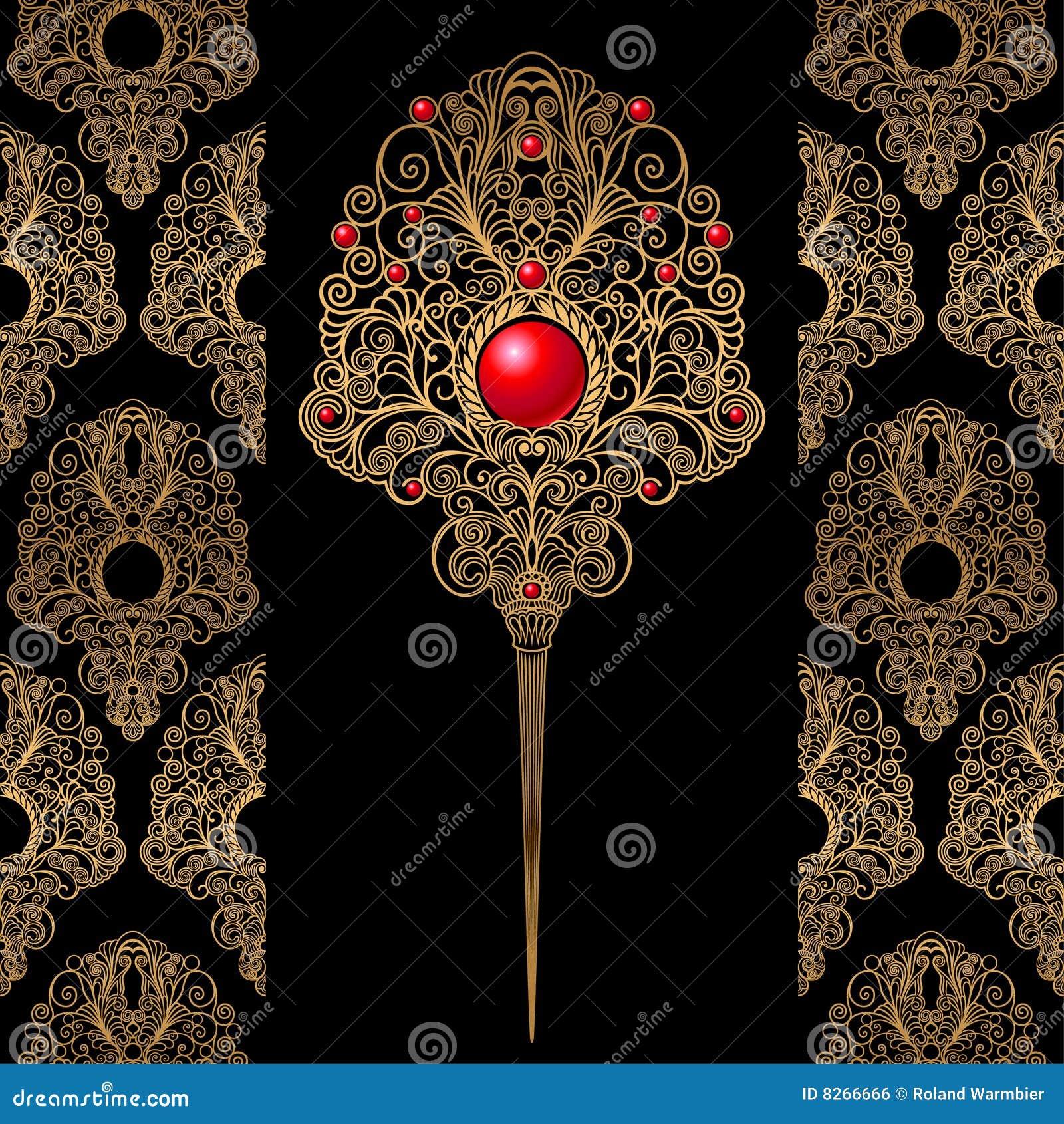 De klassieke achtergrond van de decoratie en van het behang royalty vrije stock afbeelding - Decoratie van de villas ...