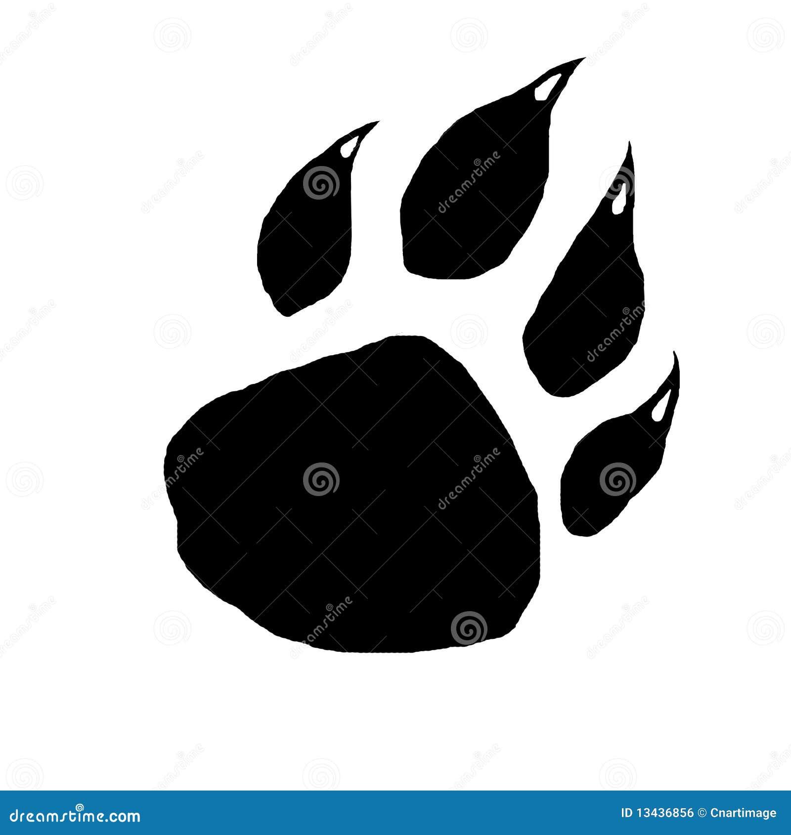 De klauwaf:drukken van de muis paintingï ¼ van carnivoor