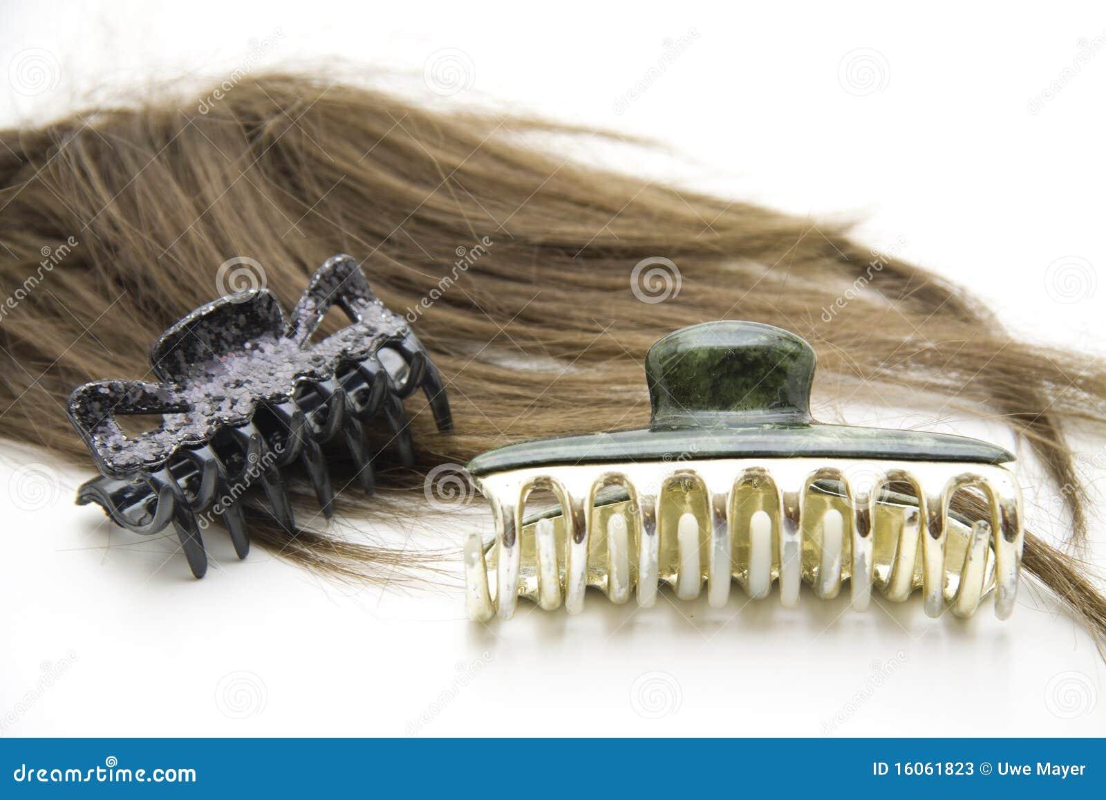 De klem van het haar met pruik