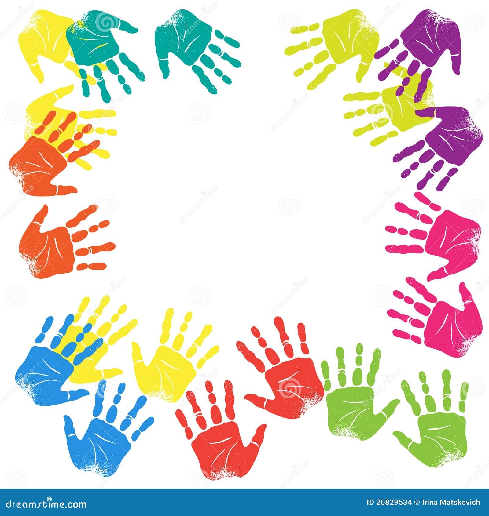 De kleur van handen stock illustratie afbeelding bestaande uit verf 20829534 - Kleur van meisjeskamers ...