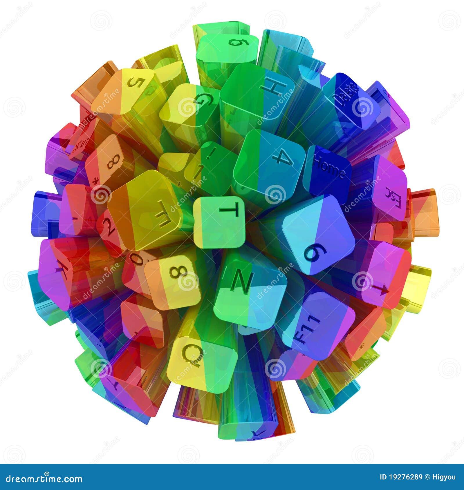 De Kleur van het Gebied van het toetsenbord