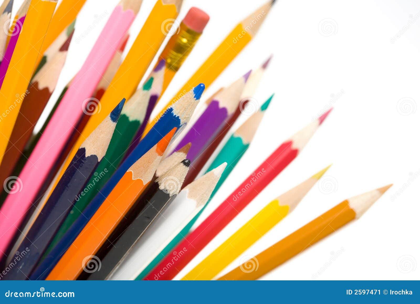 De kleuren van het potlood