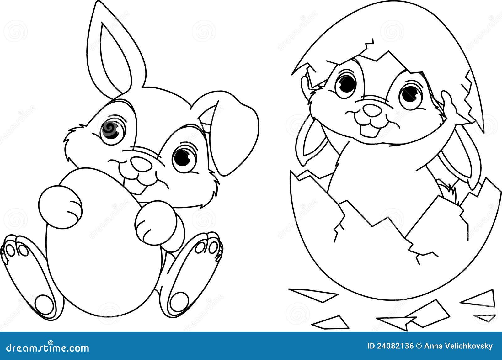 de kleurende pagina van de paashaas vector illustratie easter bunny clipart gif easter bunny clipart in black & white