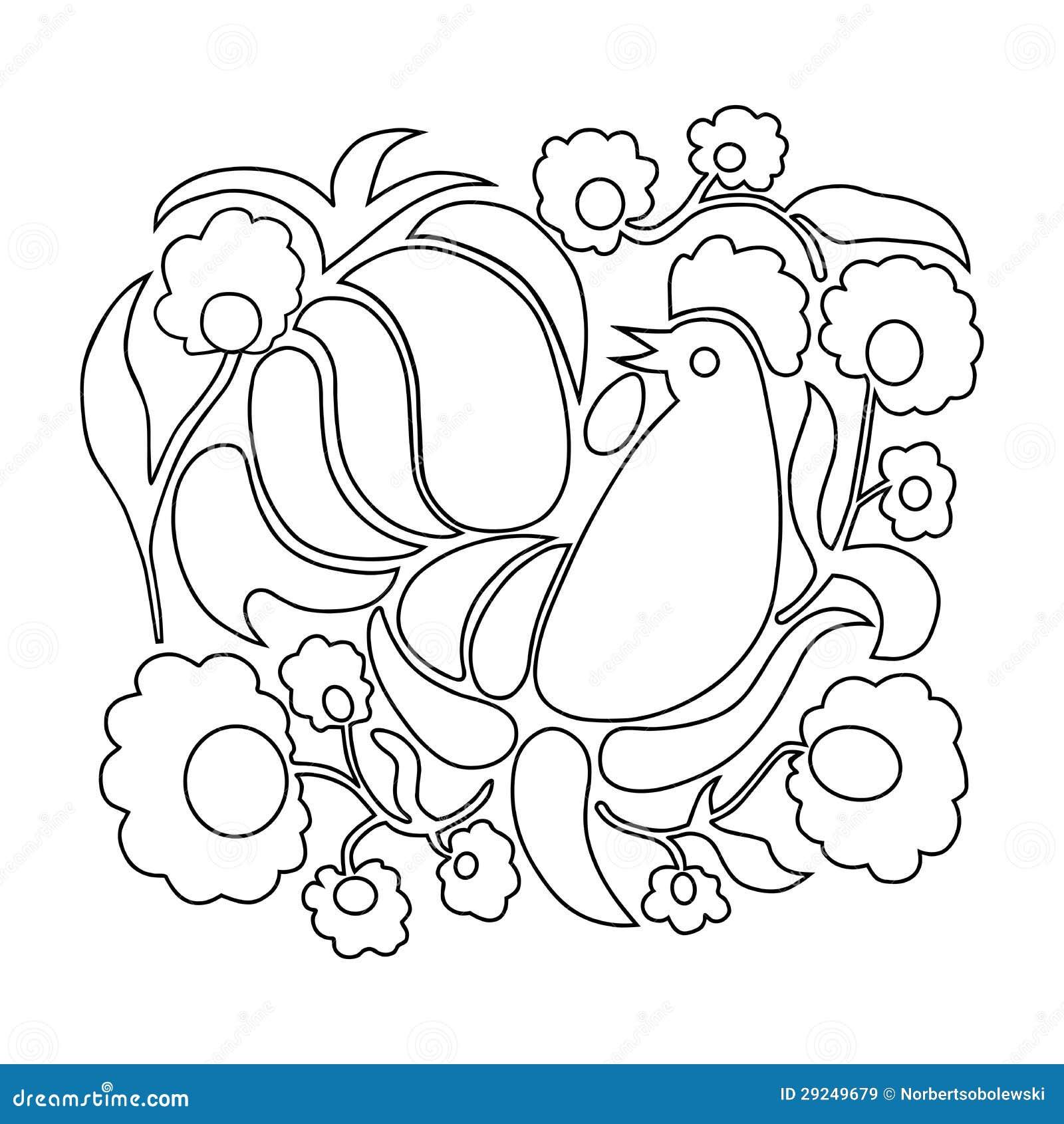 De Kleurende Pagina Van Pasen Stock Illustratie Illustratie
