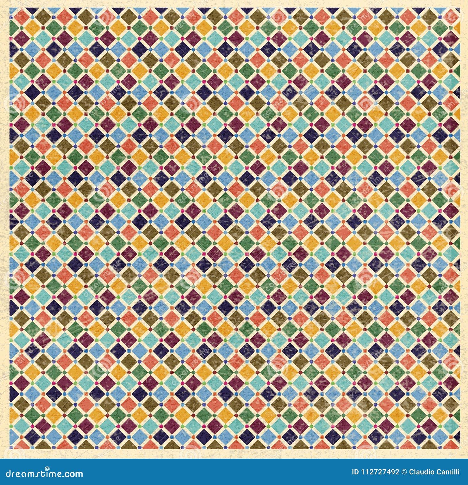 De kleurenpatroon van Granada