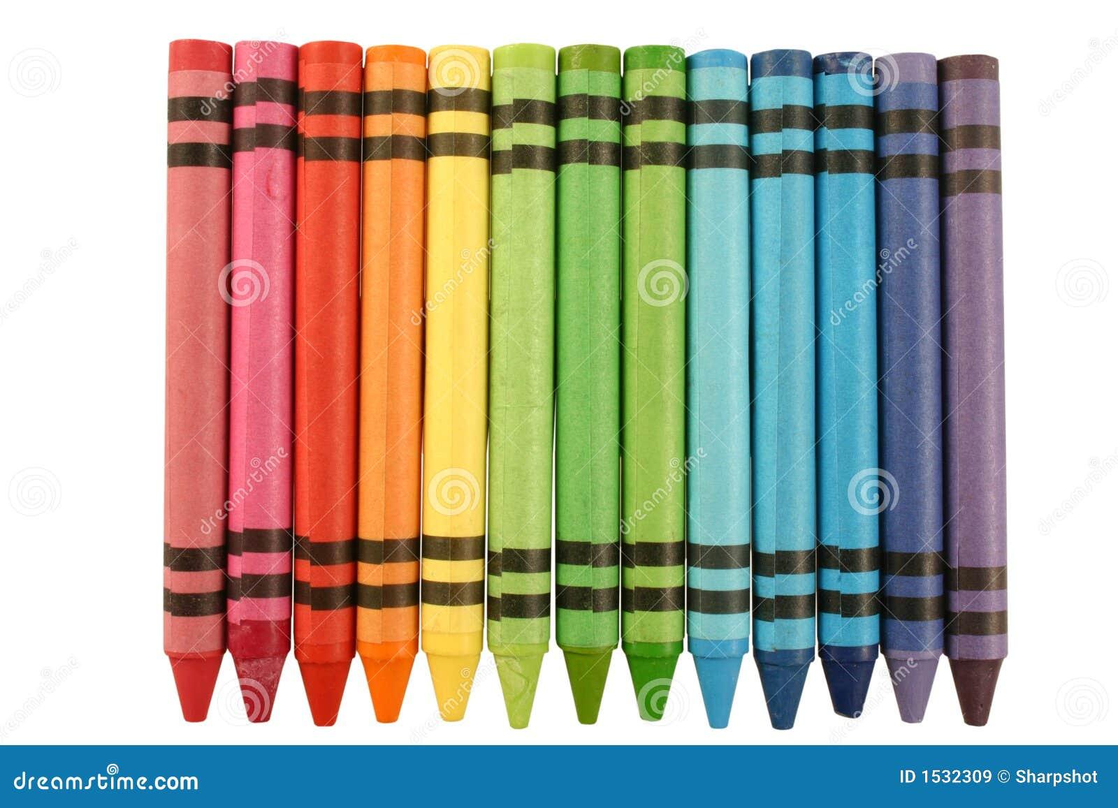 De kleurpotloden van de kleur