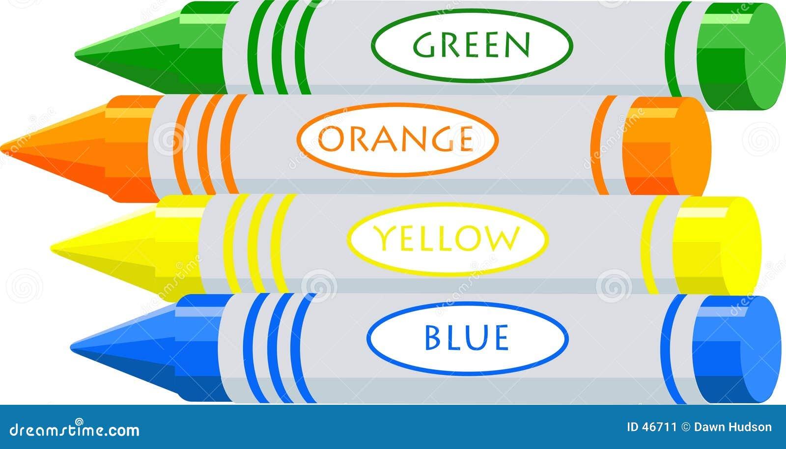 De kleurpotloden van de tekening