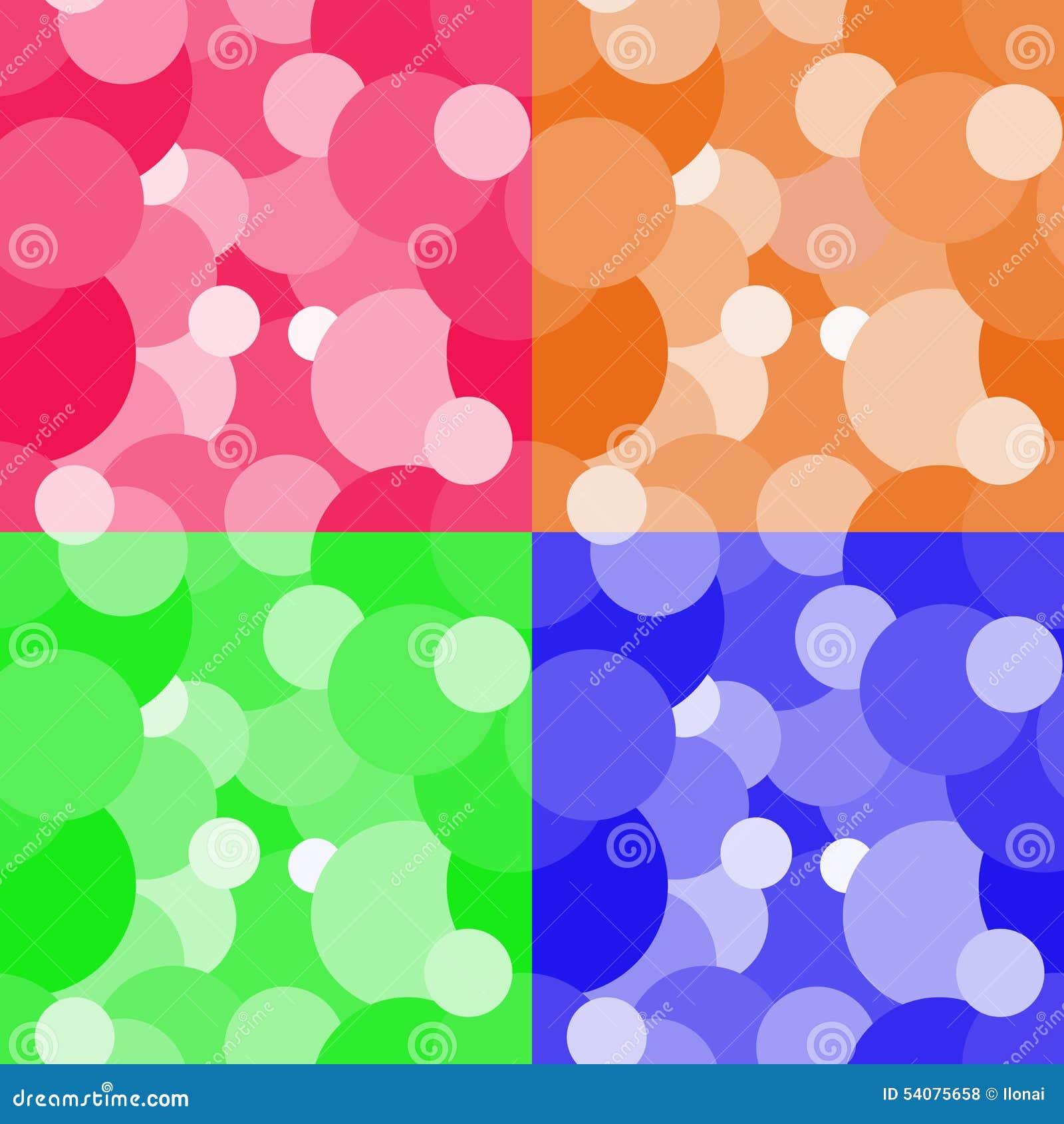 De kleurrijke achtergrond van het cirkels naadloze patroon