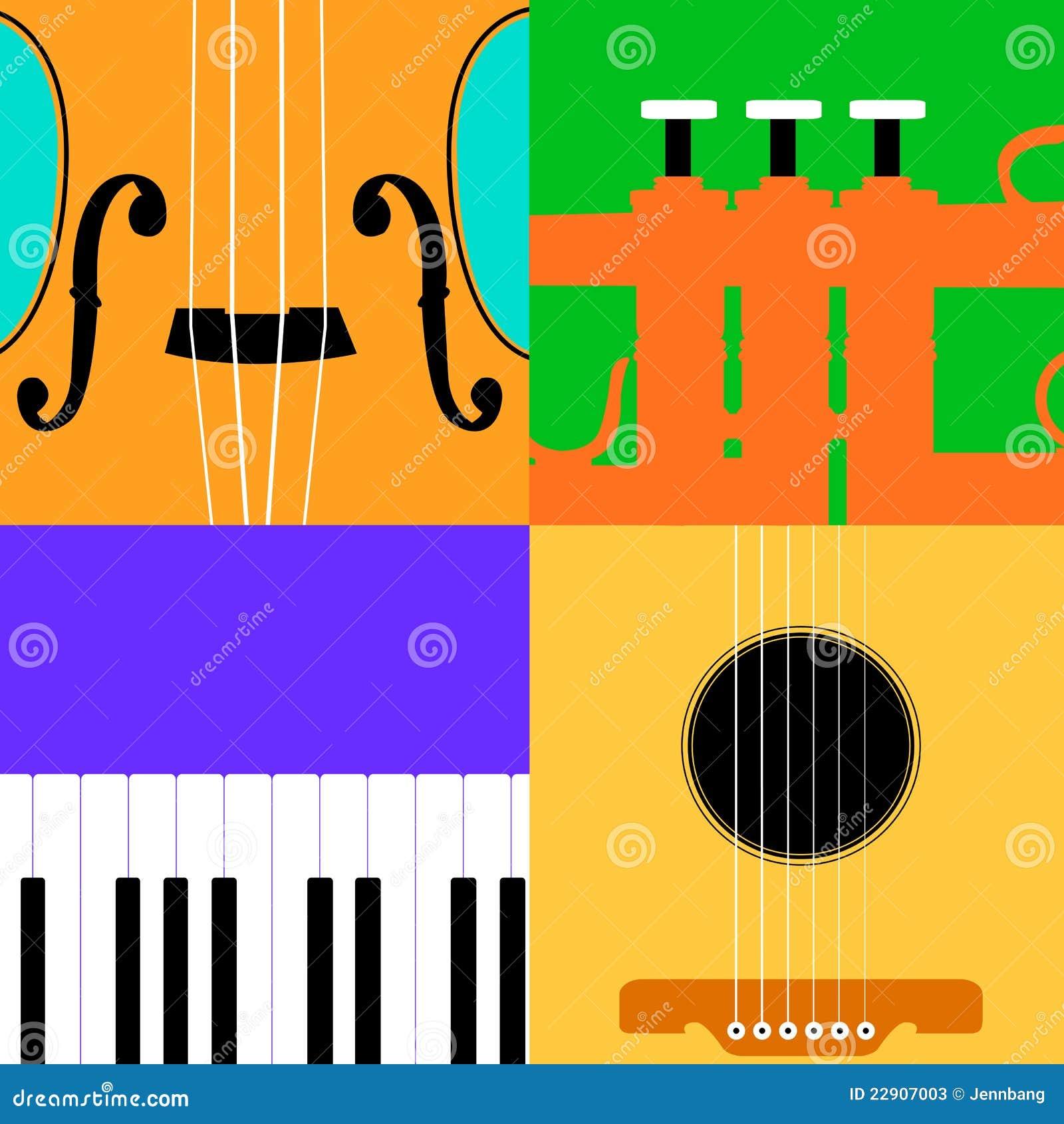 De kleurrijke achtergrond van het muziekinstrument stock illustratie afbeelding 22907003 - Het upgraden van m ...