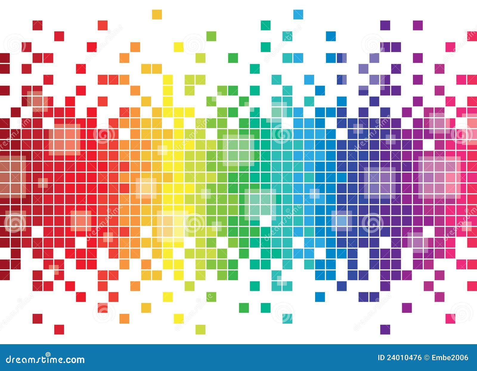 De kleurrijke Achtergrond van het Pixel