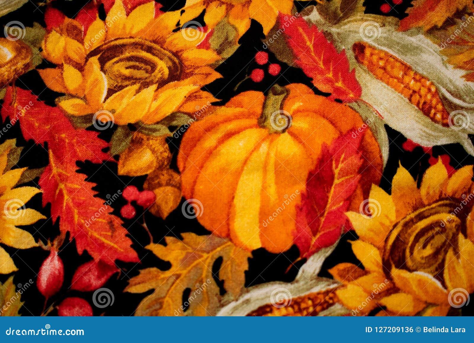 De kleurrijke Achtergrond van de Pompoendankzegging met Bloemen en Graan
