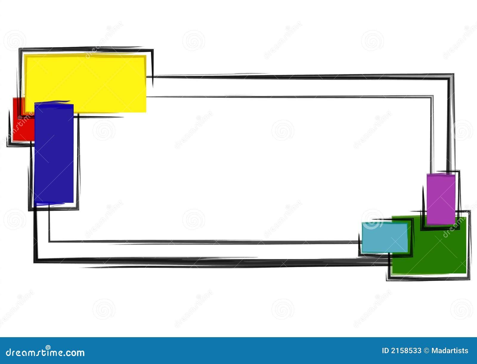 De Kleurrijke Blokken van het Embleem van de Web-pagina