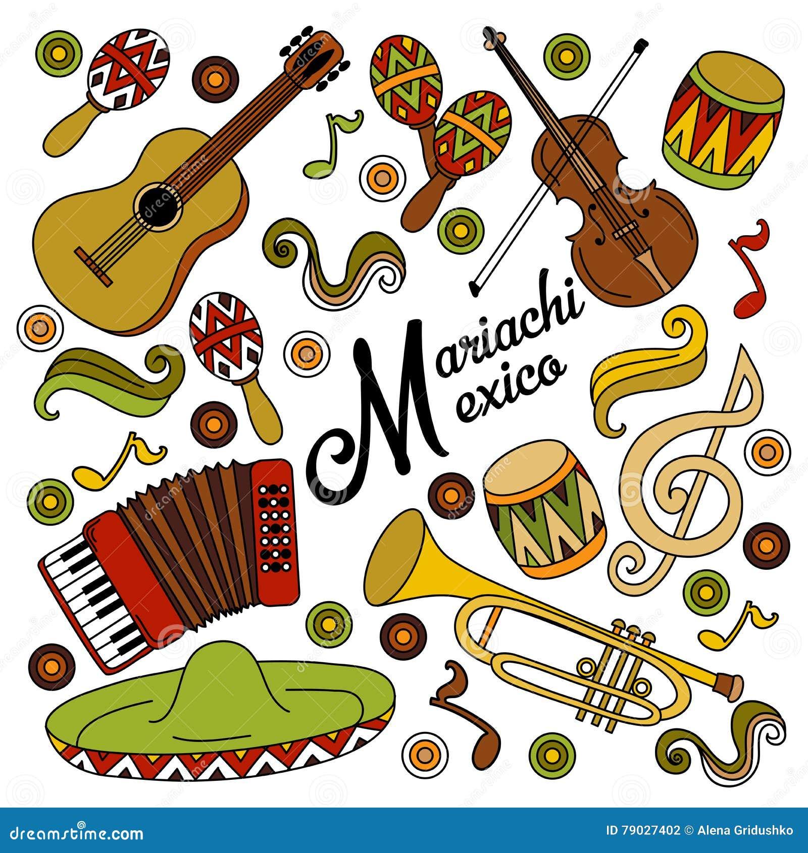 De kleurrijke feestelijke achtergrond van Mariachimexico