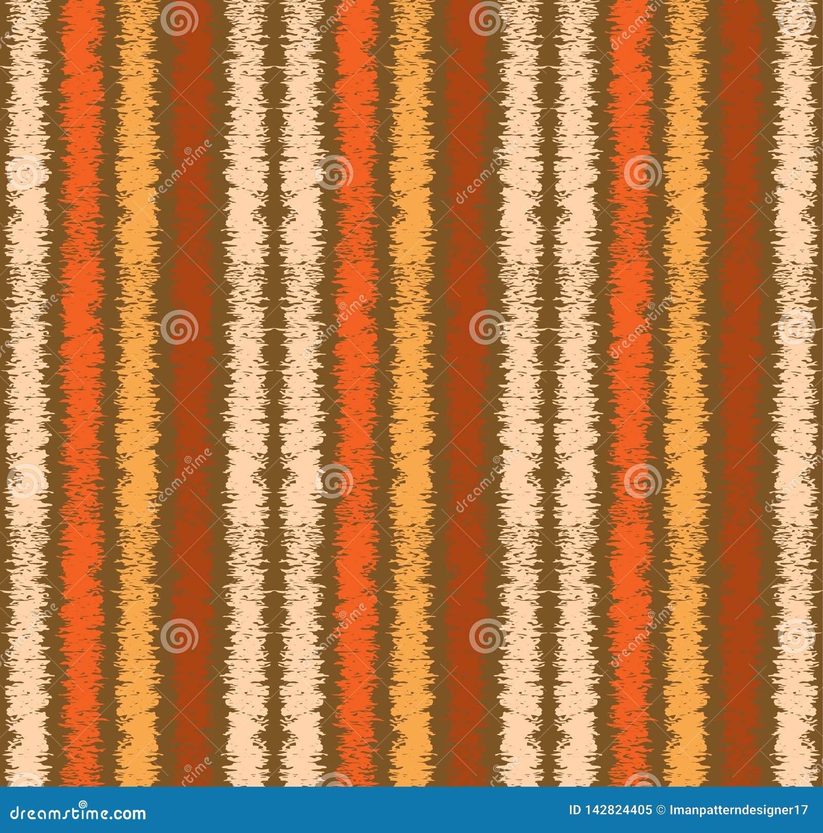 De kleurrijke geweven grungy verticale tegel van het strepen naadloze patroon