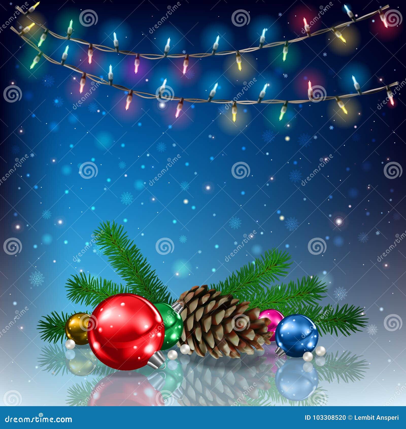 De kleurrijke illustratie van Kerstmis