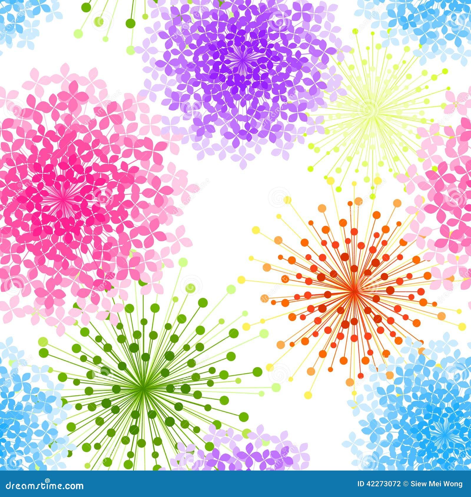 De kleurrijke Naadloze Achtergrond van de Hydrangea hortensiabloem