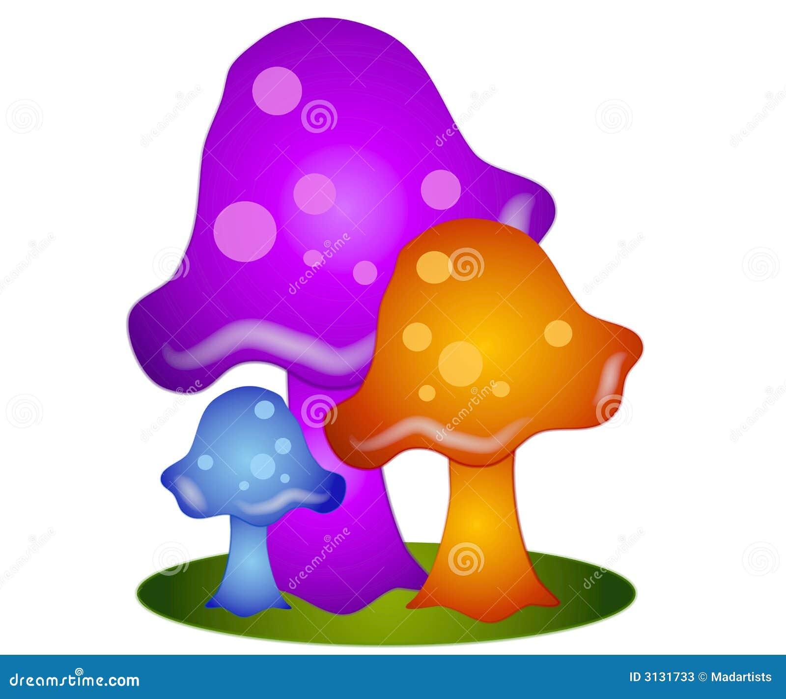 De kleurrijke Paddestoelen knippen Kunst 3