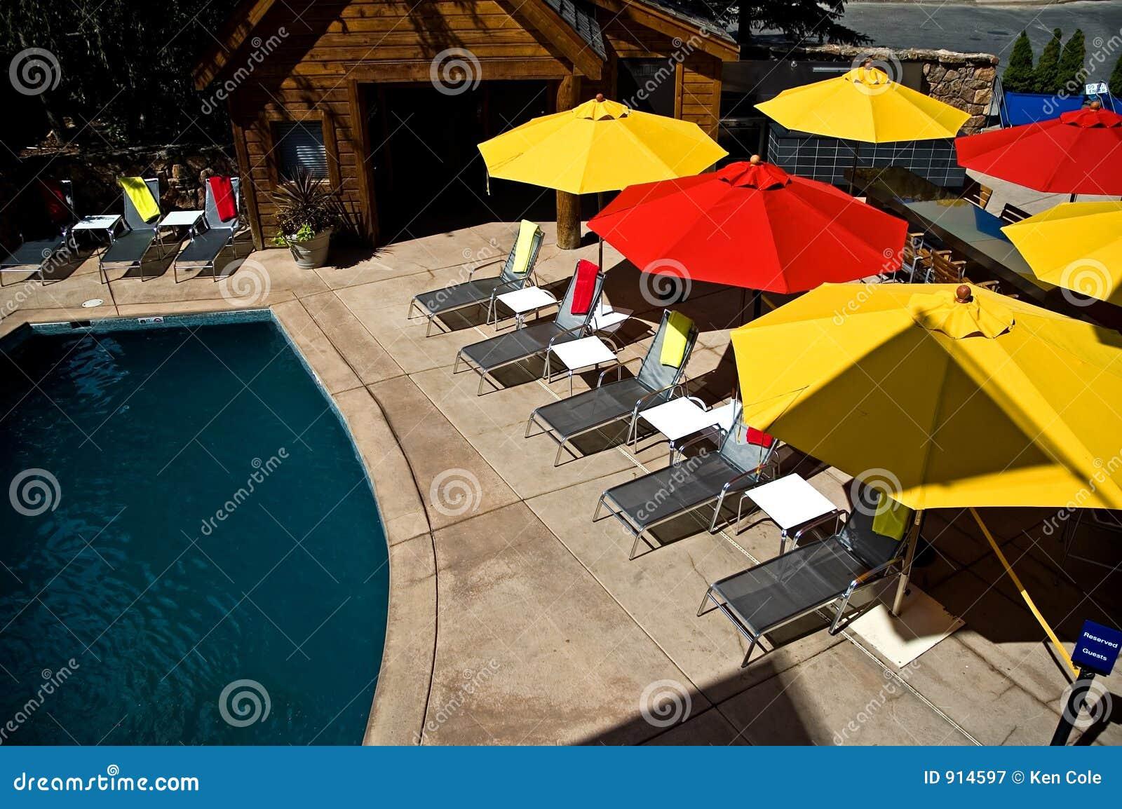 De kleurrijke Paraplu s van de Pool