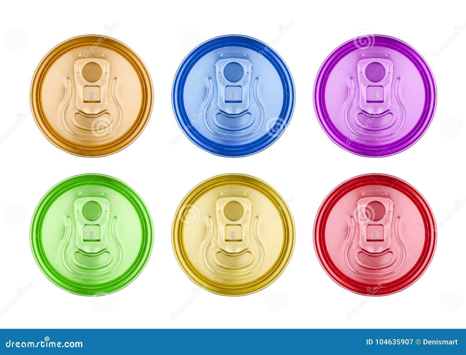 Download De Kleurrijke Van Het De Dranktin Van De Aluminiumsoda Hoogste Geïsoleerde Mening Stock Afbeelding - Afbeelding bestaande uit gouden, sluit: 104635907