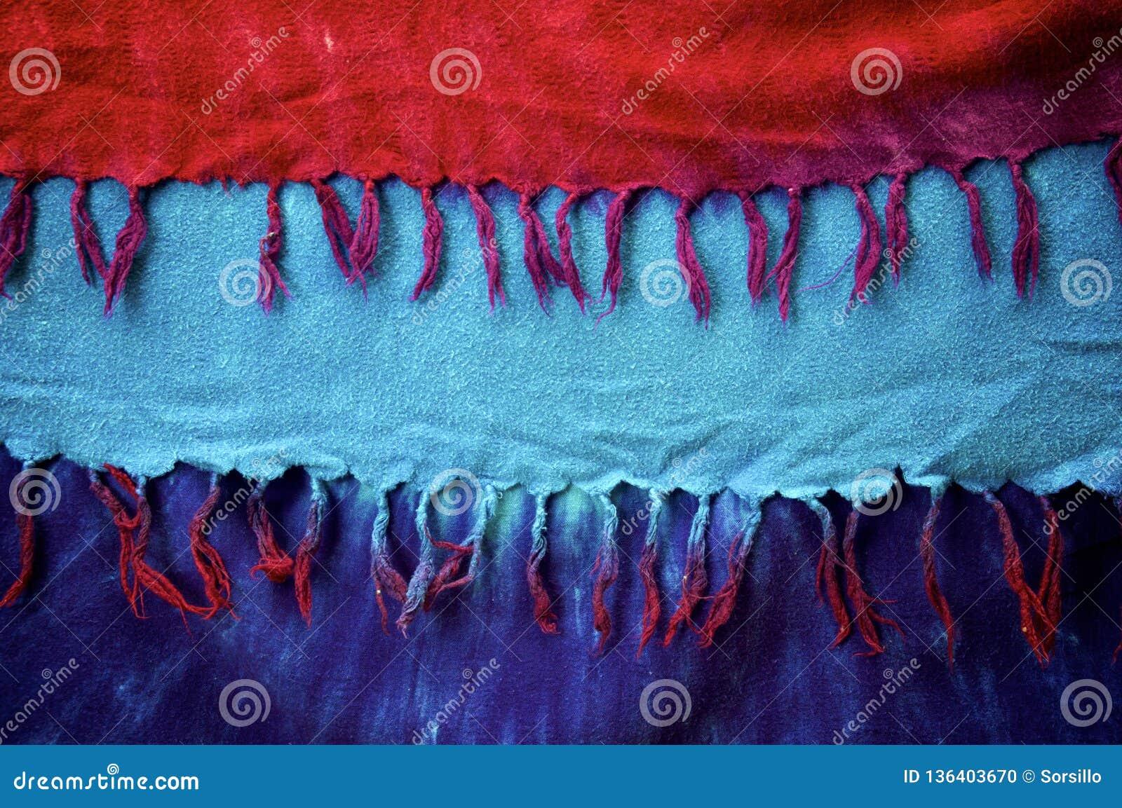De kleurstof van de Achtergrond tasseledband doek