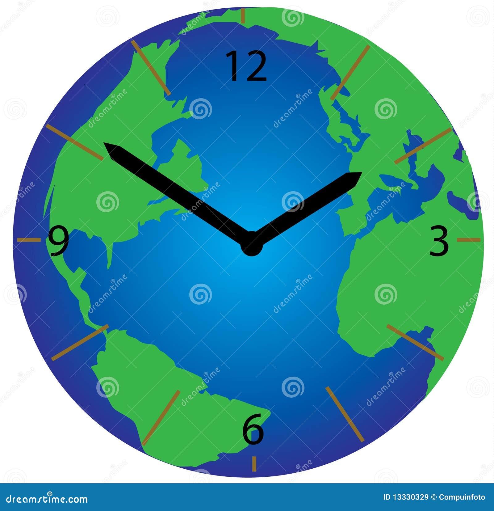 De klok van de wereld royalty vrije stock afbeeldingen afbeelding 13330329 - Vloerlamp van de wereld ...