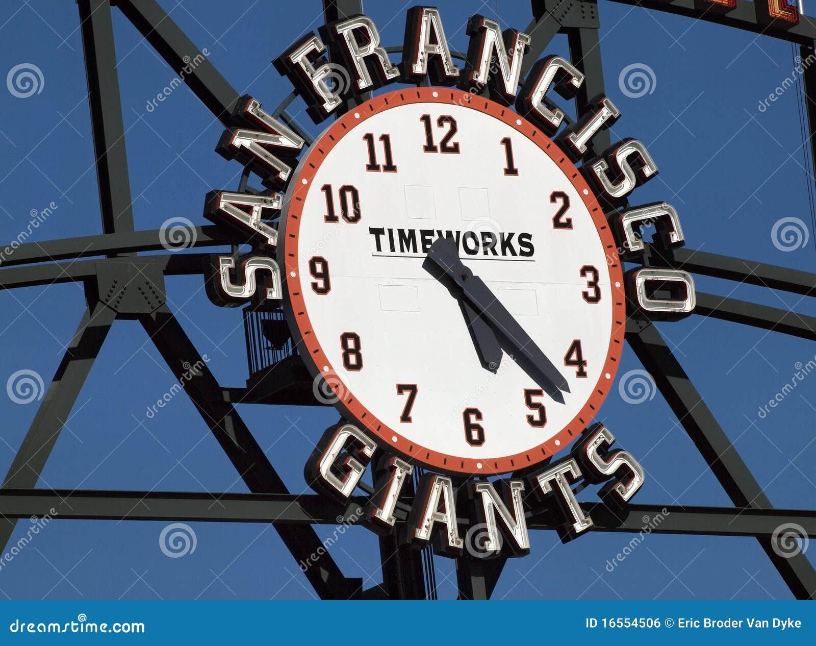 De Klok van het Scorebord van de Reuzen van San Francisco door TimeWorks
