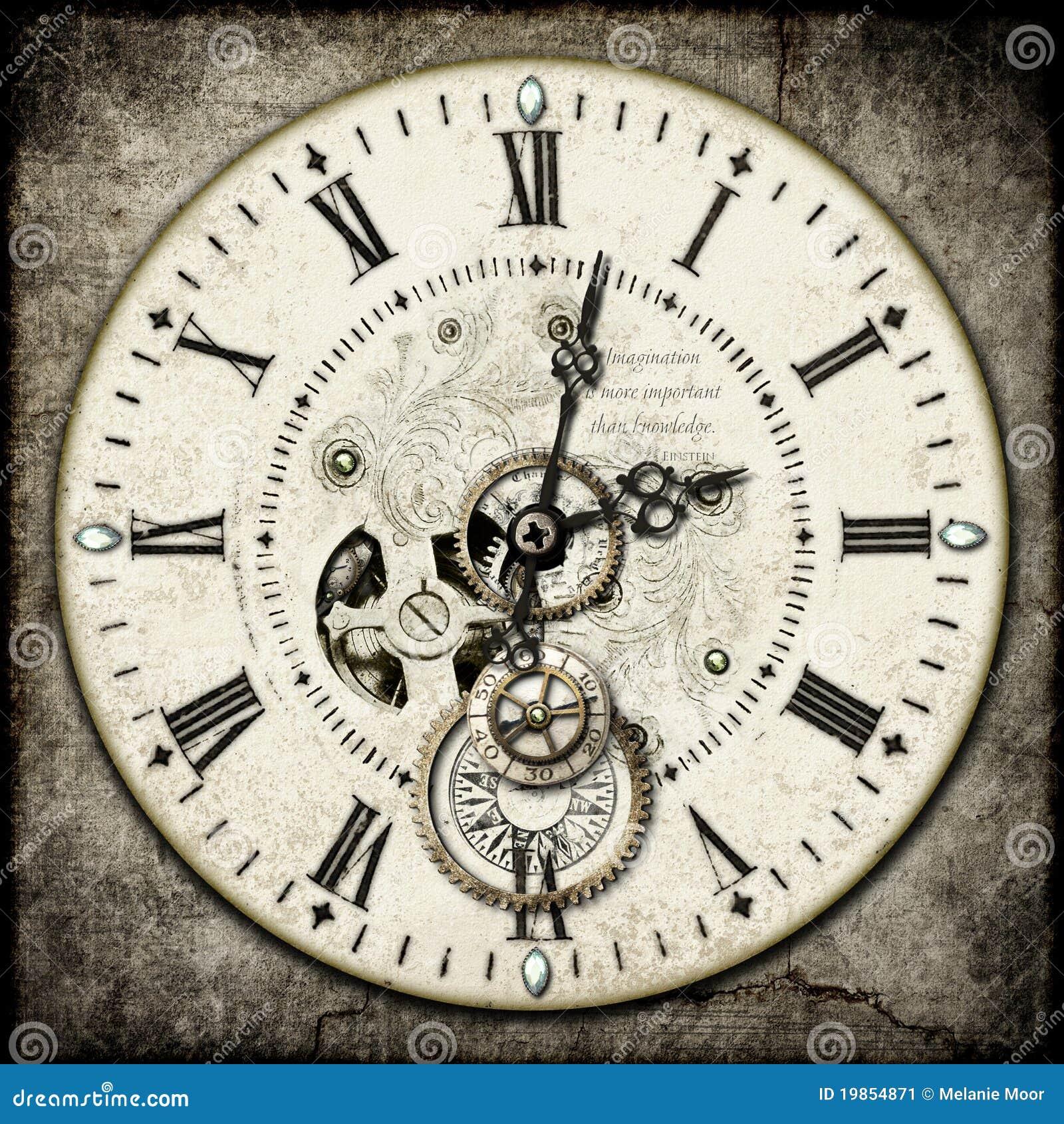 De klok van Steampunk
