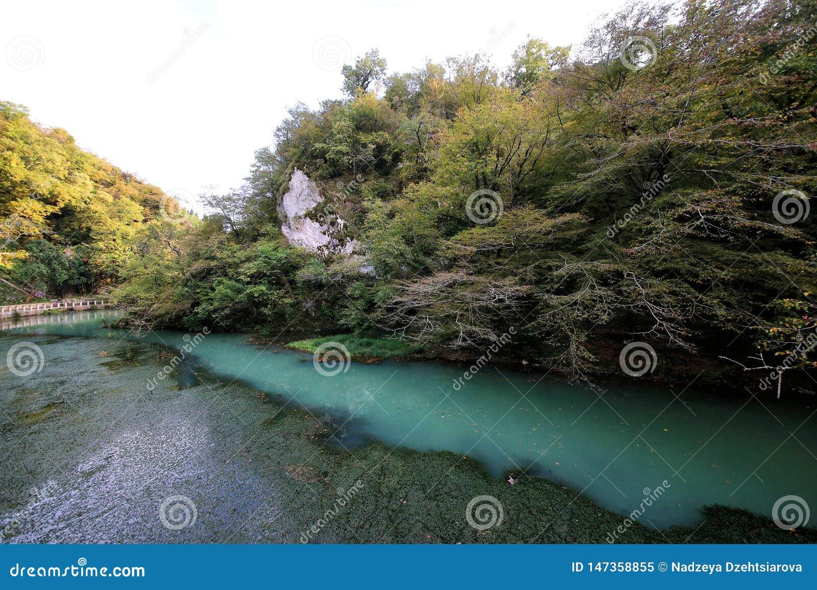 De kloof van de rivier Psyrtsha