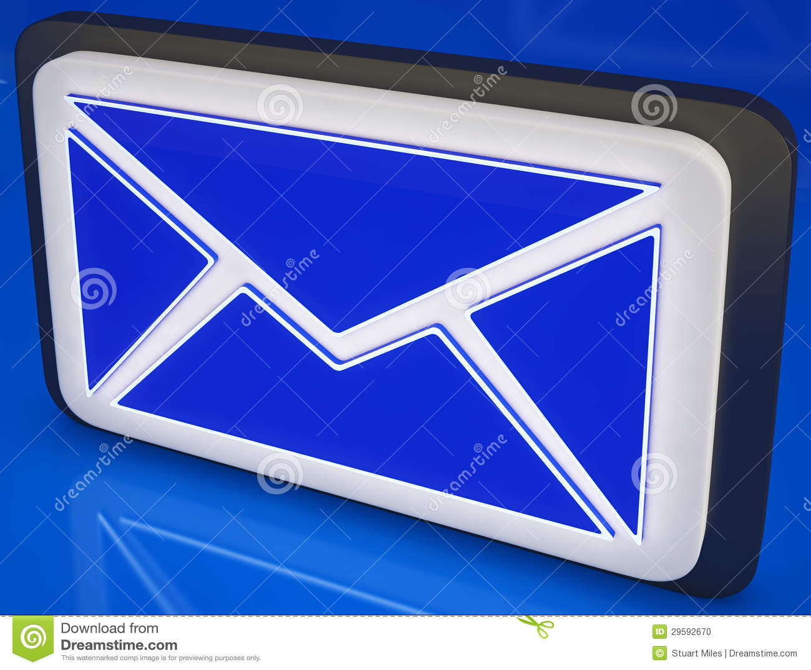 De Knoop die van de envelop Online Post, Berichten tonen