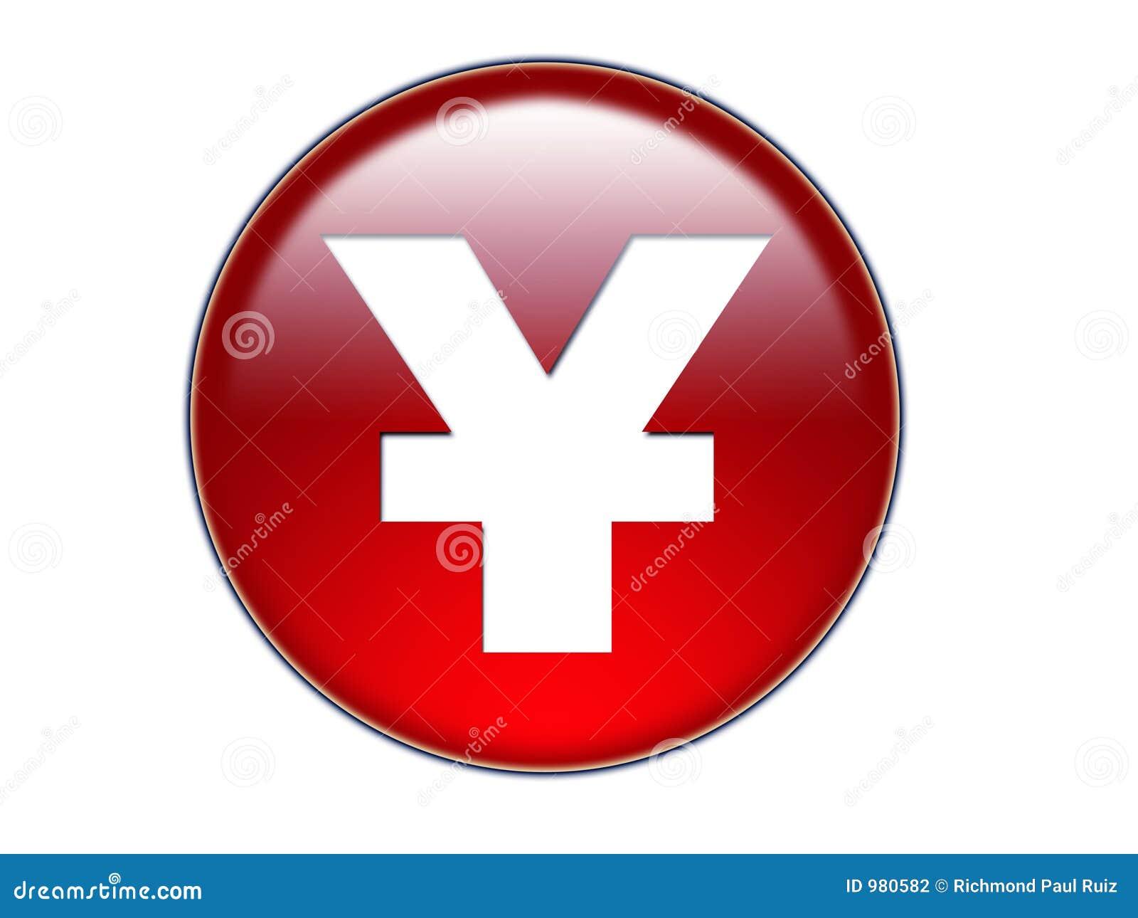 De Knoop van het Glas van het Symbool van het Geld van Yen