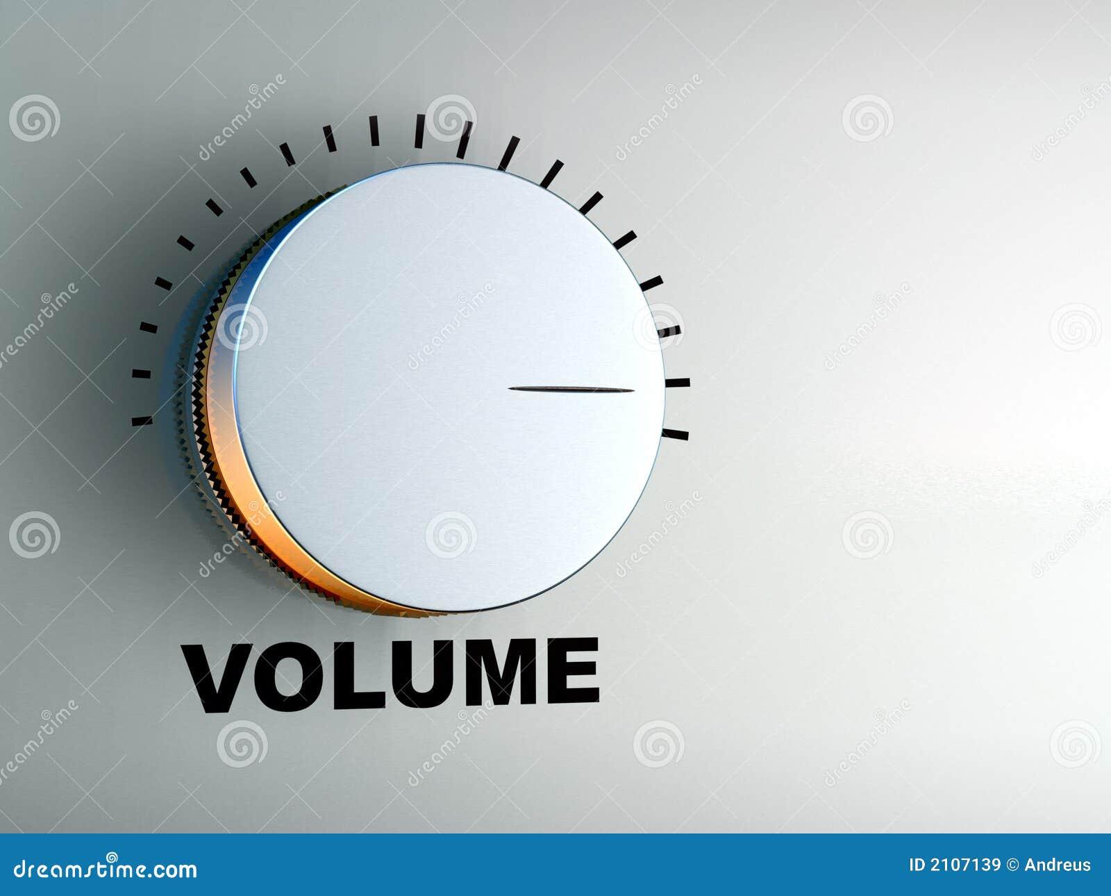 De knop van het volume
