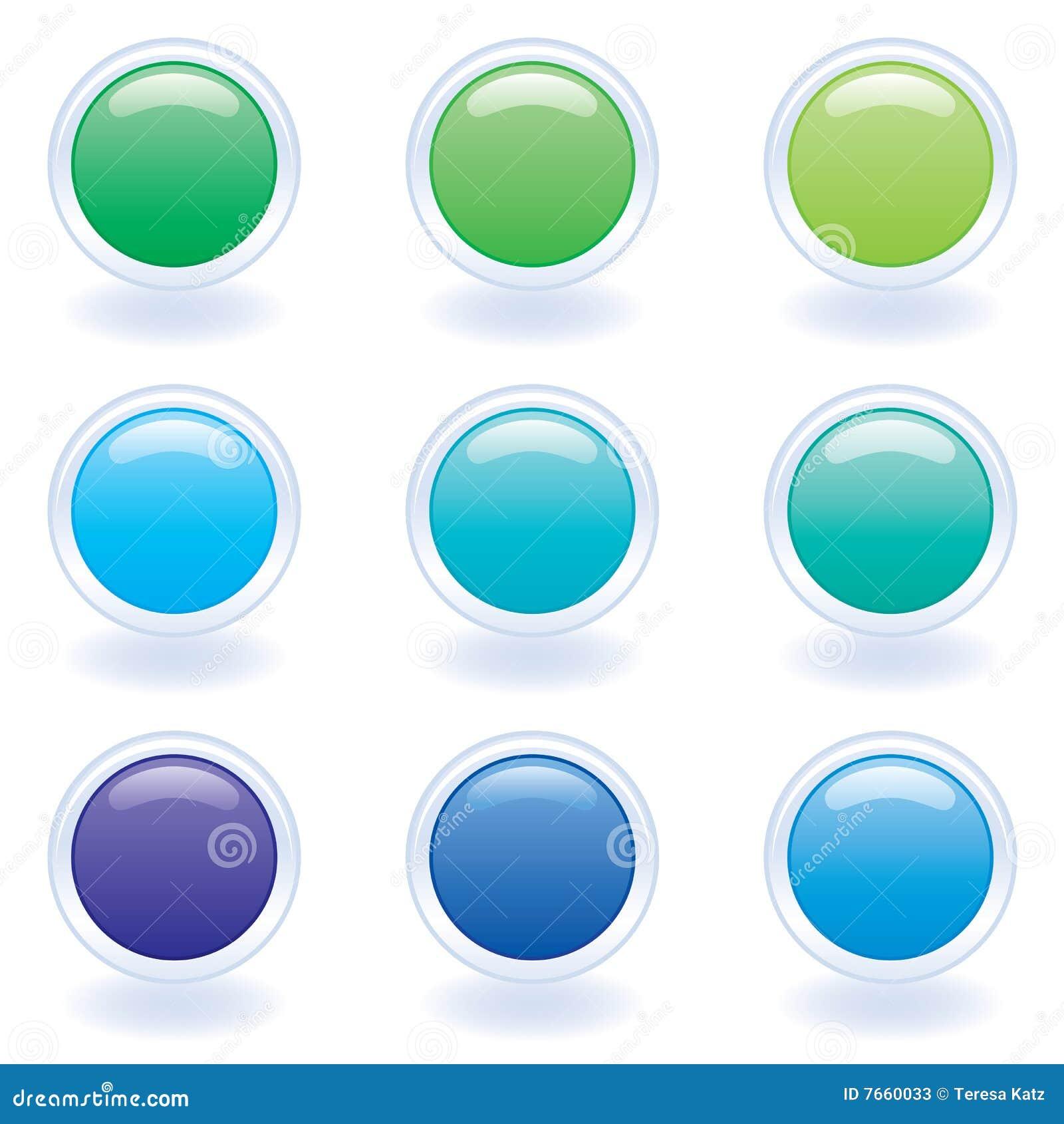 De knopen van de computer in koele kleuren stock foto 39 s beeld 7660033 for Wat zijn de koele kleuren