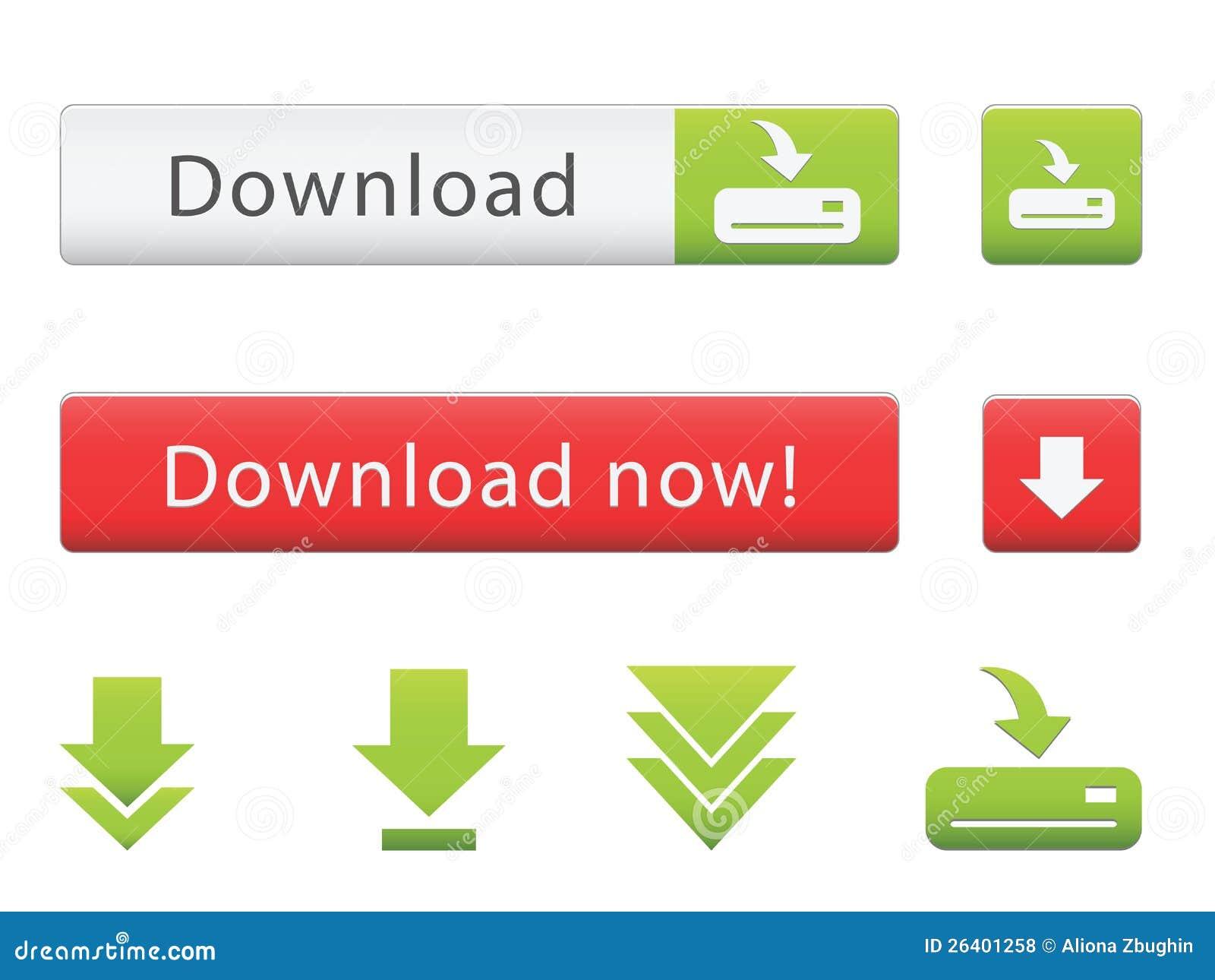 De knopen van de download