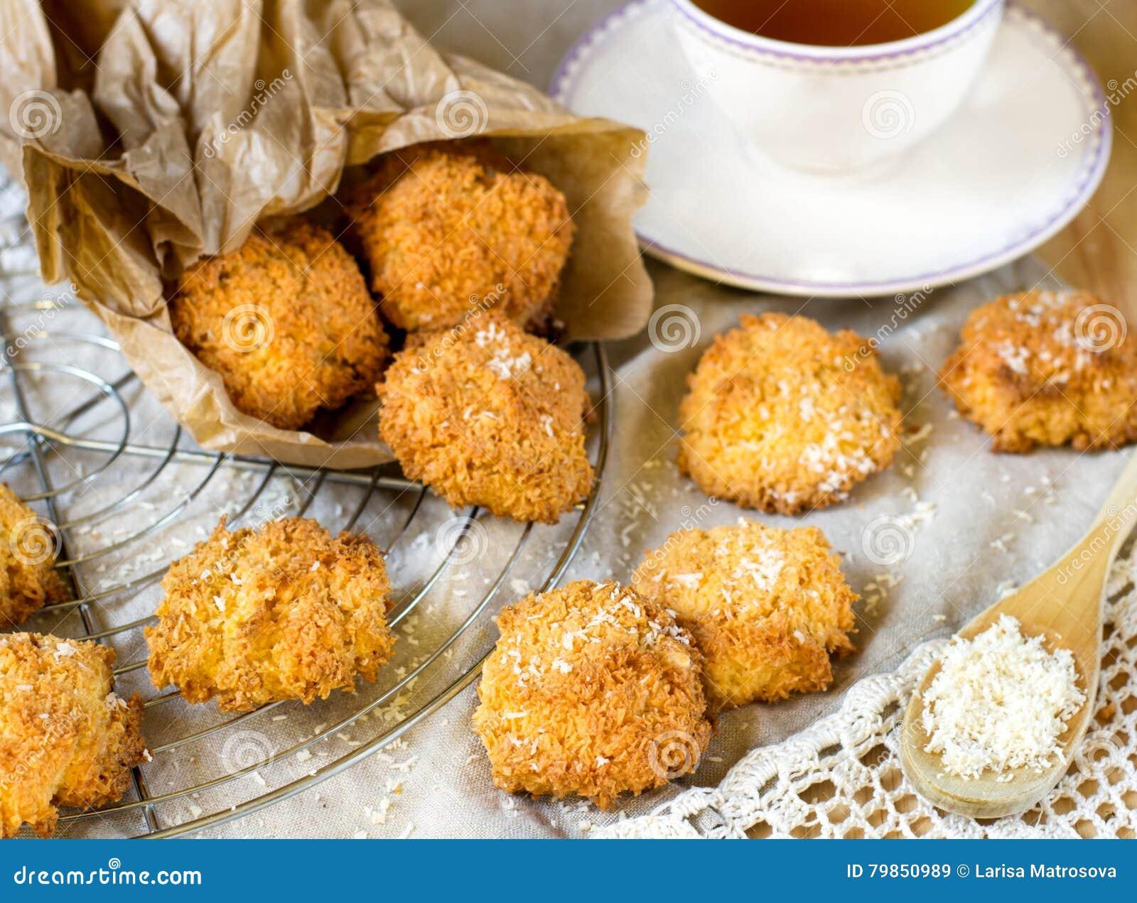 De koekjes van de kokosnotenmakaron