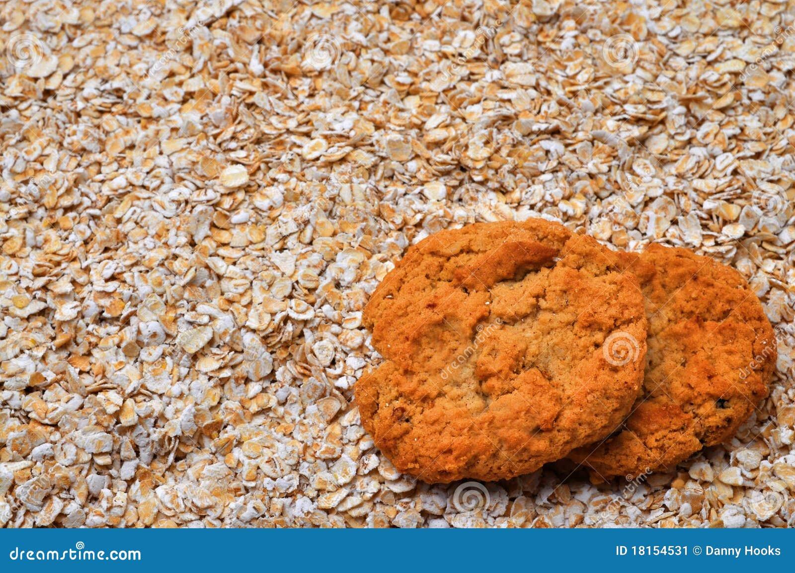 De koekjes van het havermeel en havermeel met de ruimte van het exemplaar stock afbeelding - Ruimte van het meisje parket ...