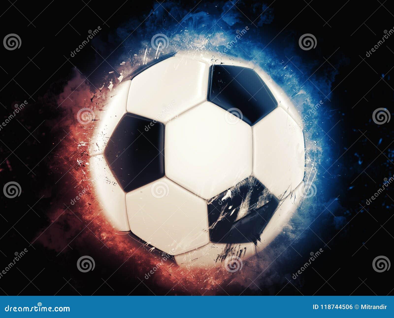 De koele illustratie van de voetbalbal