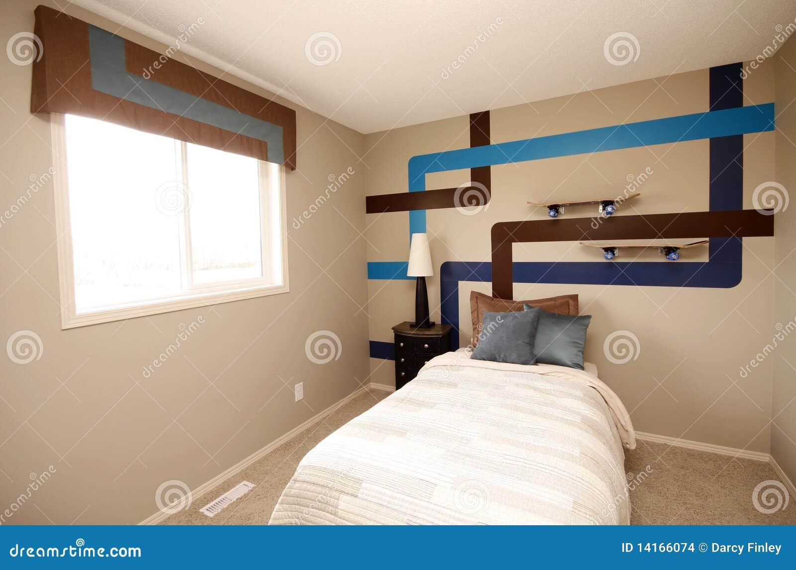 De koele slaapkamer van jongens stock afbeeldingen afbeelding 14166074 - Kleine kamer van de jongen ...