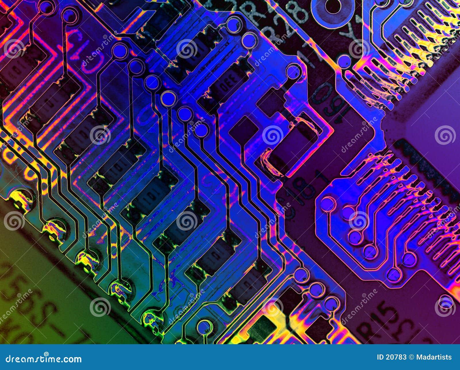 De koele Texturen van de Computer Grunge