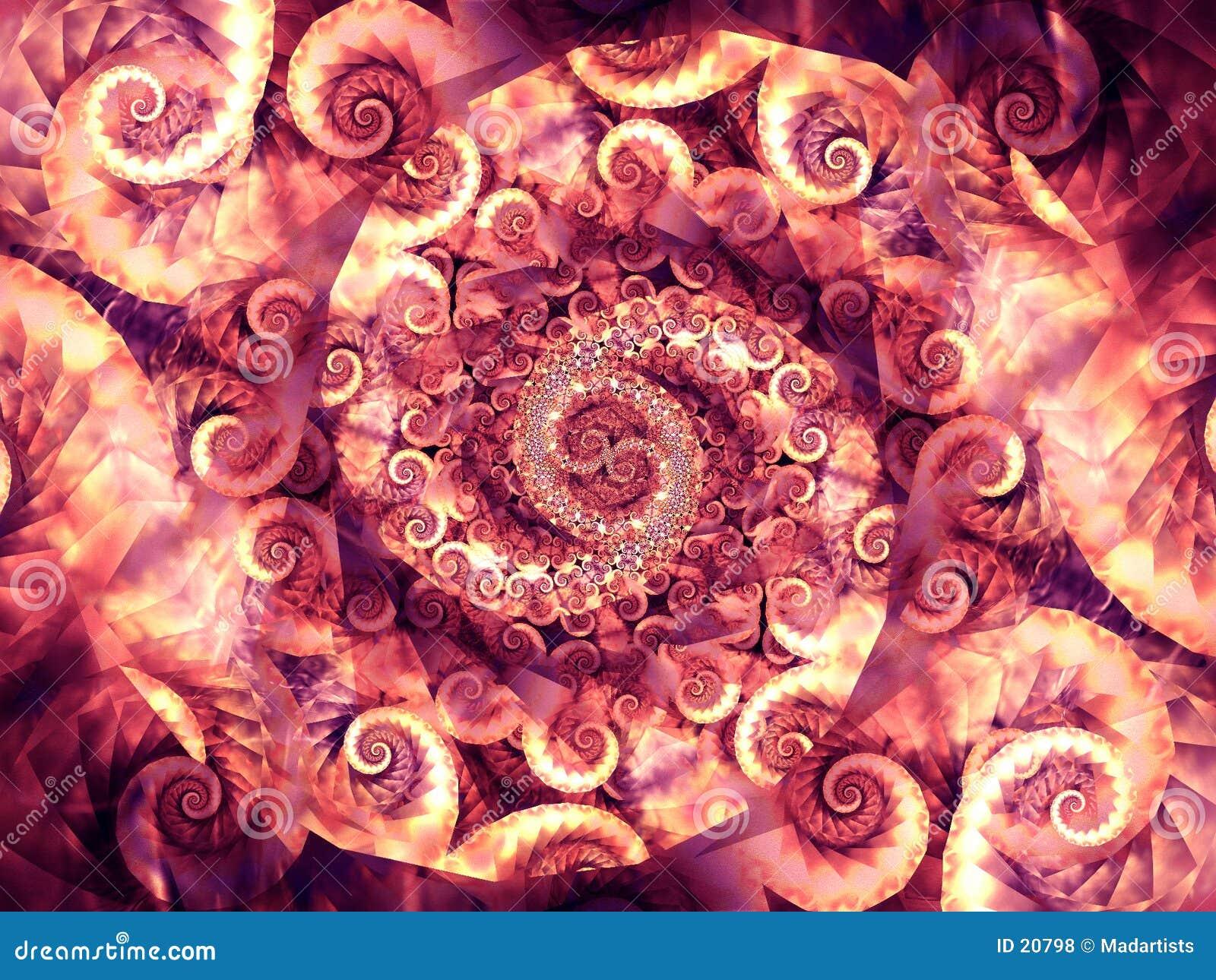 De koele Texturen van de Wervelingen van Spiralen