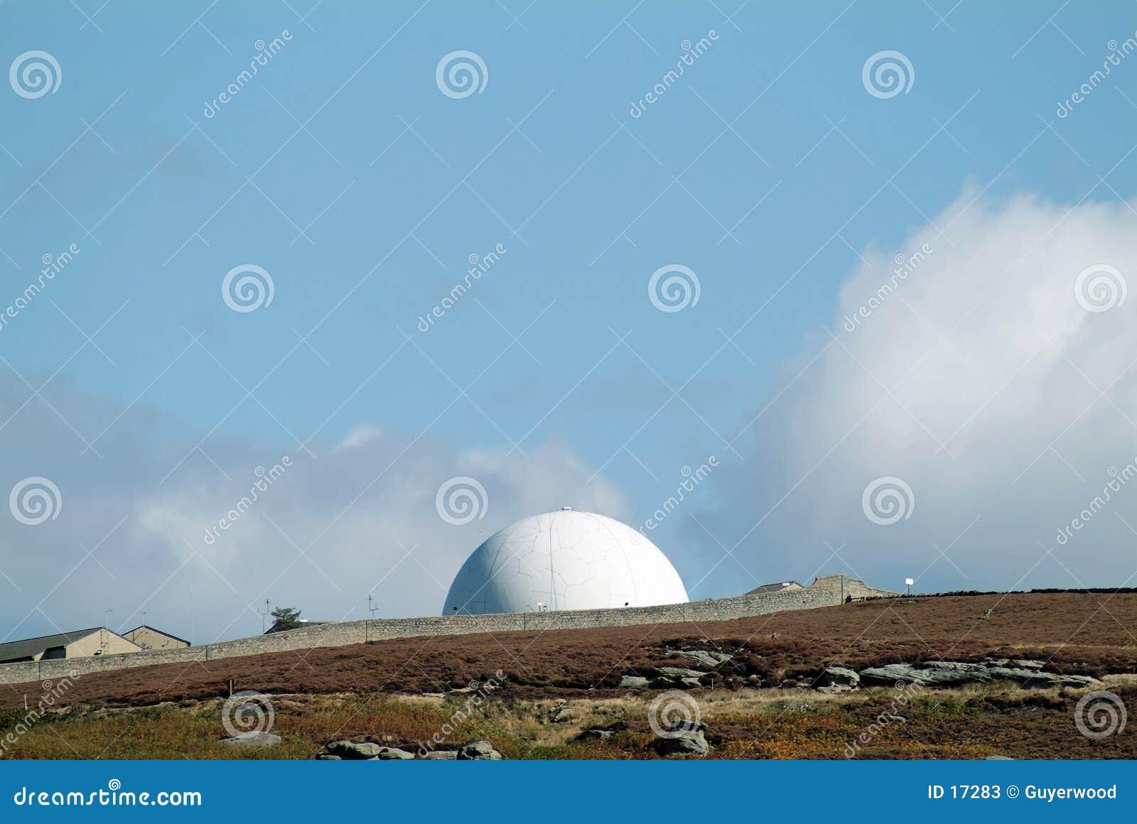 De koepel van de radar