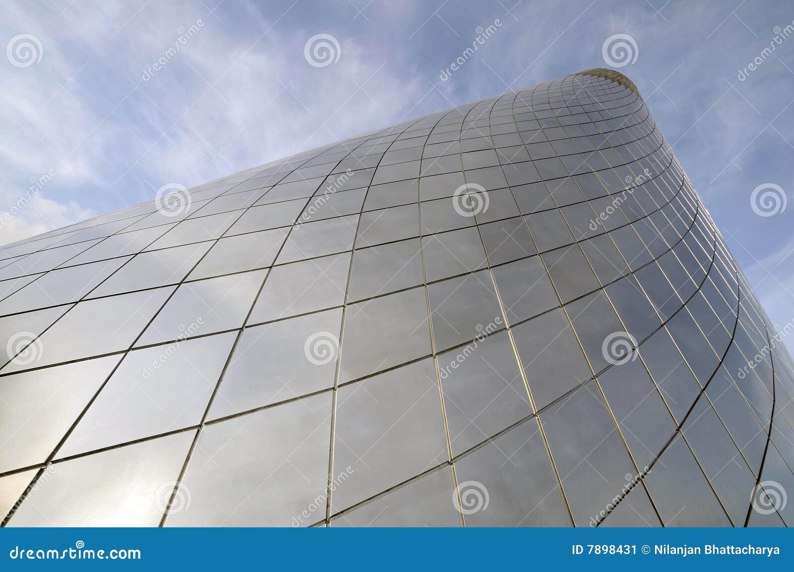 De koepel van het glas bij een museum