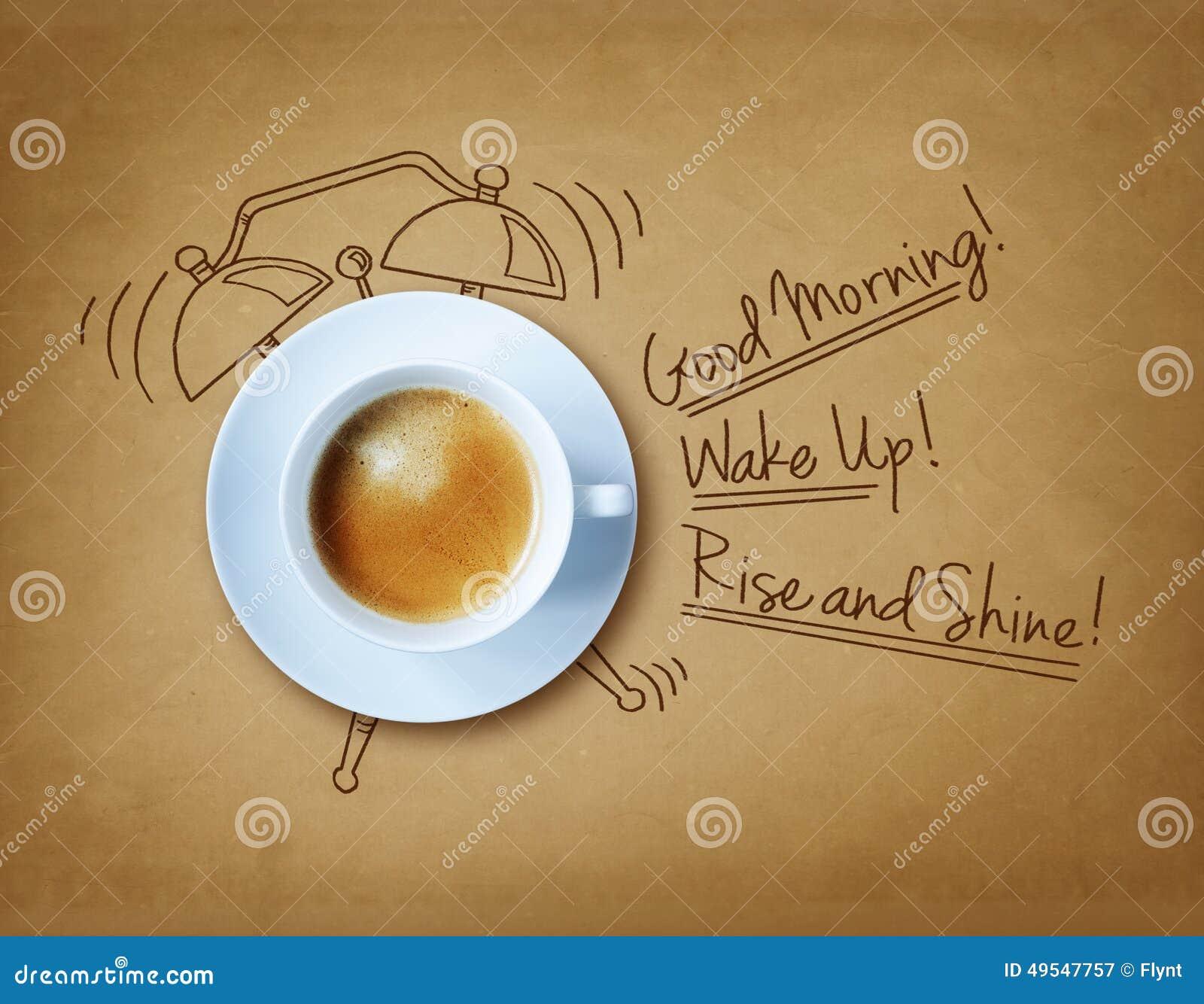 De koffie van de goedemorgen