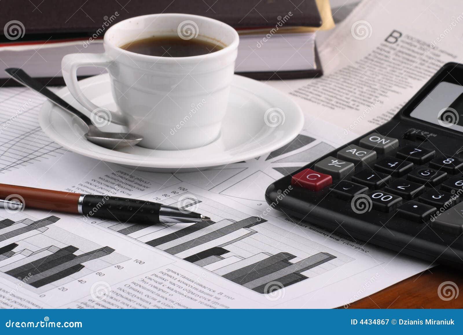 De koffie van de kop op bedrijfsnieuws
