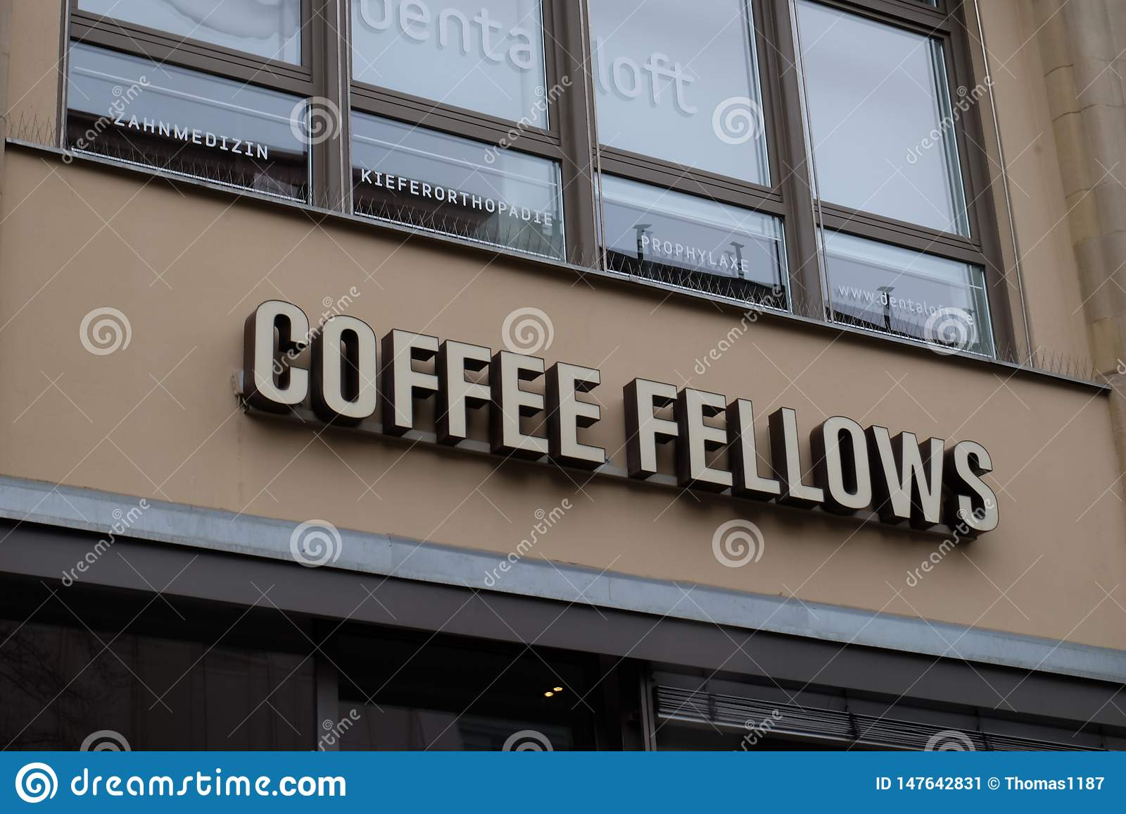 De koffiekameraden winkelen Embleem in Frankfurt