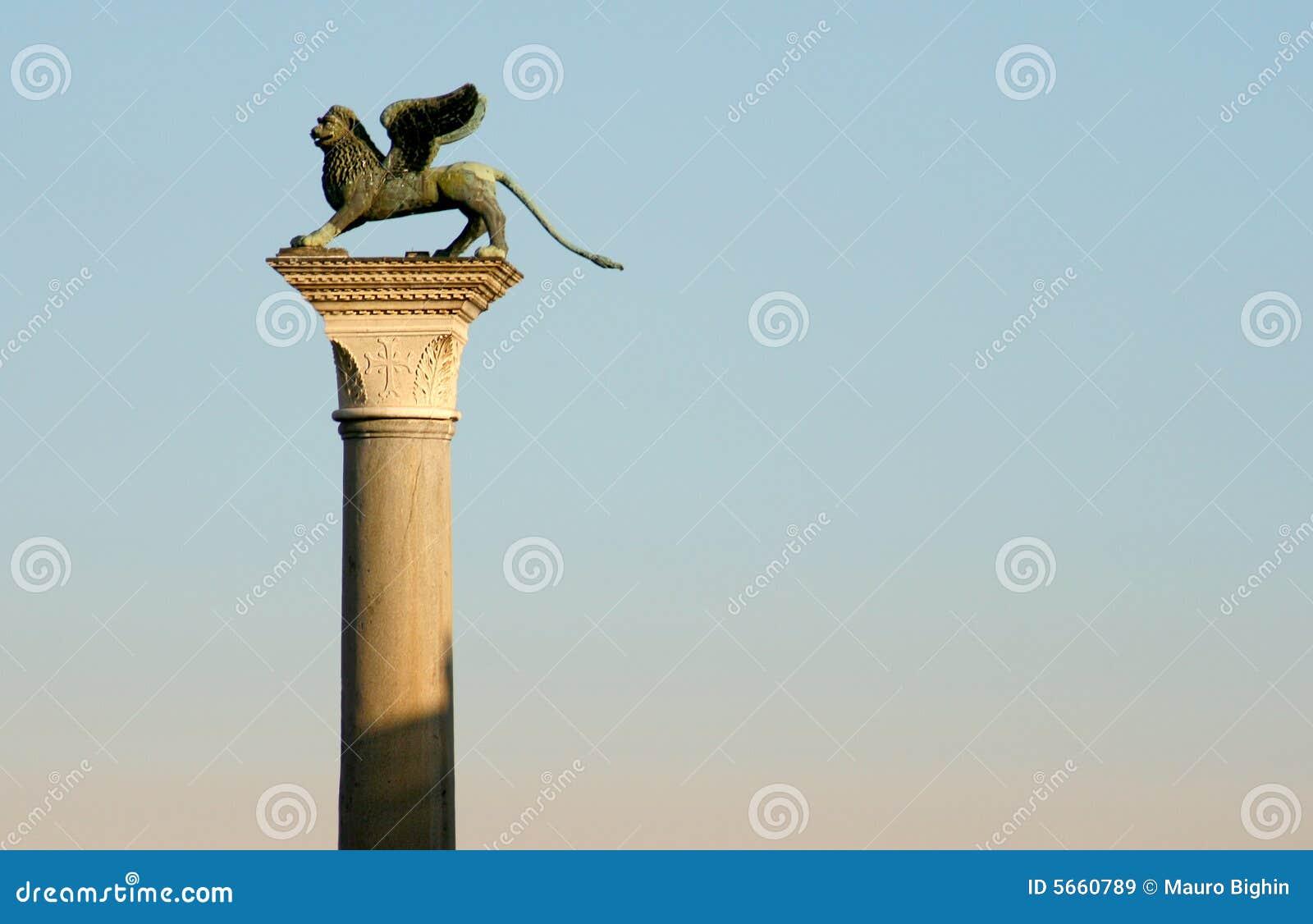 De kolom van het Teken van heilige, Venetië