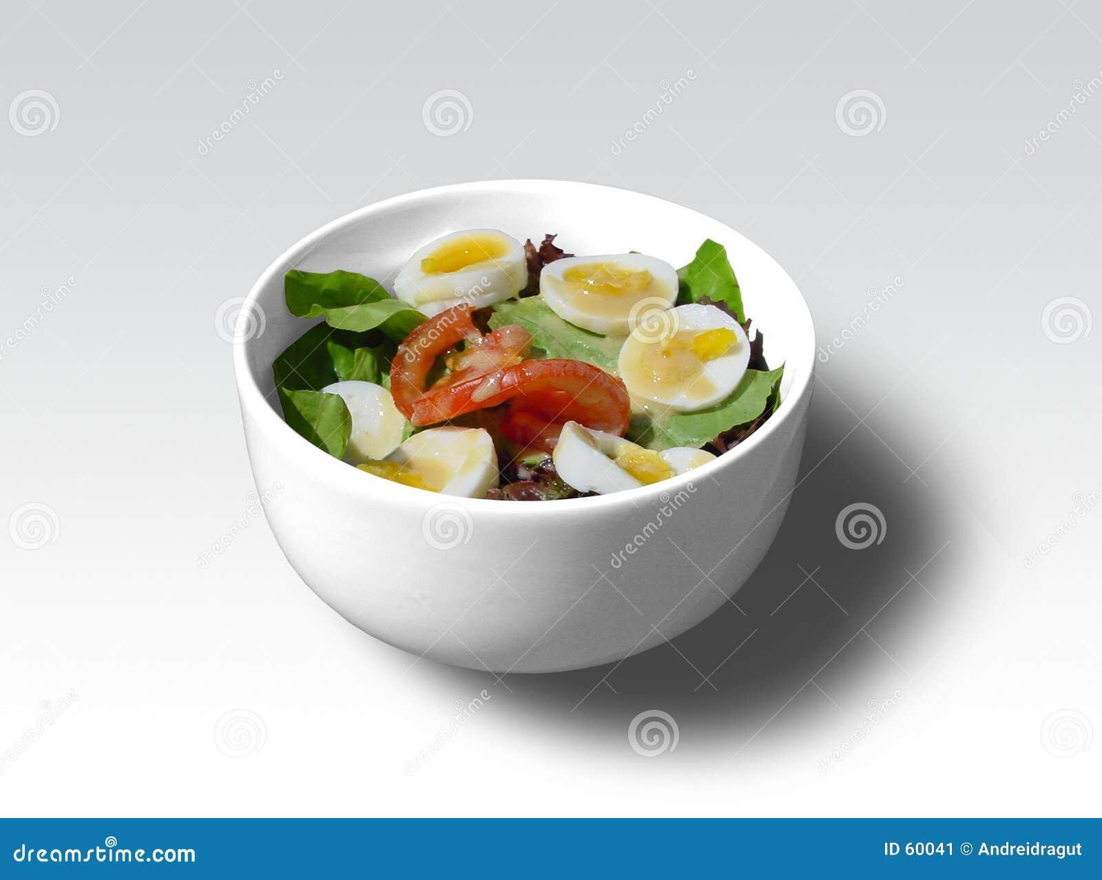 De kom van de salade